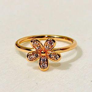 Pandora Rose Gold Ring Dazzling Daisy 180932cz